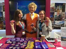 Enjoying some Cadbury sweets at Meet Birmingham at The Meetings Show UK 2016